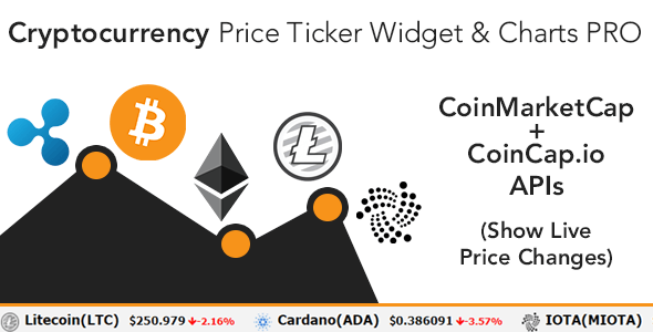Cryptocurrency Price Ticker Widget PRO
